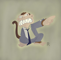 Evil Monkey. A Design&Illustration project by Ivan Rivera - 15-03-2013