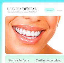 Clínica Dental. Diseño Web. A Design, and Software Development project by Alexander  - 23-03-2013