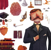 The Tools of a Consultant Detective. A Illustration project by David Fernández Huerta - 02-04-2013