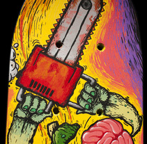 Pepinillo asesino Skateboard. A Illustration project by Fernando López Tarodo - Apr 04 2013 03:45 PM
