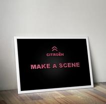 """Creativo """"Make a Scene"""". Un proyecto de Diseño, Br, ing e Identidad, Cine, vídeo, televisión, Dirección de arte, Diseño gráfico, Diseño Web y Publicidad de Noa Primo Rodríguez - Martes, 18 de marzo de 2014 00:00:00 +0100"""
