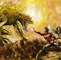 Concept Art - Superheroes!. Um projeto de Ilustração de Adrián Izquierdo         - 26.06.2013