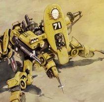 Unidad 71 (Ilustración para juego de rol). A Illustration project by Arturo Mata - 26-07-2013