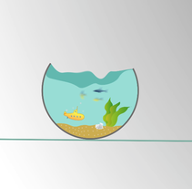 Fish bowl. A Design, Illustration, Advertising, Motion Graphics, Film, Video, and TV project by Irati Aguirre         - 14.08.2013
