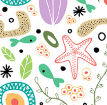 Sea plants pattern. A Design&Illustration project by Alejandra Morenilla - 28-08-2013