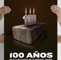 cartel centenario ayuntamiento de málaga. Un proyecto de Diseño, Ilustración, Publicidad y Fotografía de luigi mastroianni - 19-09-2013