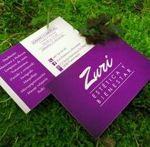 Zuri - Estética y Bienestar. A Design, Br, ing, Identit, and Graphic Design project by Nagore Lejarza         - 02.10.2013