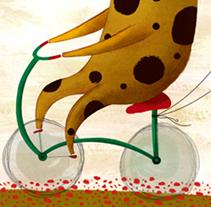 Jirafa en bicicleta. Um projeto de Ilustração de Alejandra Fernández         - 22.10.2012