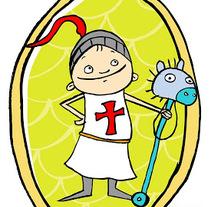 Sant Jordi - L'estenedor. Un proyecto de Ilustración de Carla Olivares         - 24.11.2013