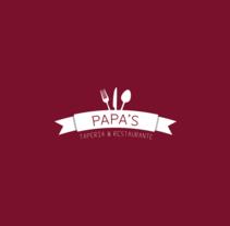 Nueva Imagen Papa's Taperia & Restaurante. Un proyecto de Diseño de Carlos Garrido Velasco         - 25.11.2013