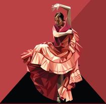 Flamenco triangular. Um projeto de Ilustração de Fco Javier Roman Martinez         - 09.10.2013