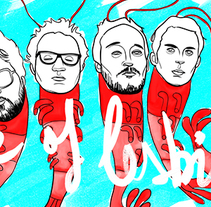 Love of Lesbian - Camiseta. A Design&Illustration project by Aaron Arnan - 07.18.2013