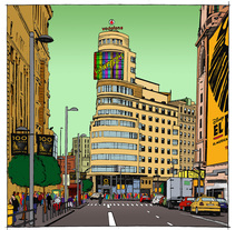 """Gran Via"". A Illustration project by Nicola Zonno         - 11.01.2014"