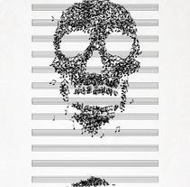 """Diseño de camiseta """"Death Song"""". Un proyecto de Diseño e Ilustración de Cristhian Roberto Pagoaga Aguilera - Domingo, 24 de noviembre de 2013 00:00:00 +0100"""