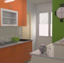 infoarquitectura 3d cocina. A Design, Advertising, Installations, and 3D project by Óscar García Vélez - 12-12-2013