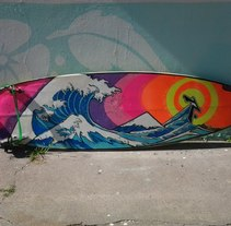 Tabla de Surf. A Design, Illustration&Installations project by Ariel Cosenza         - 16.12.2013
