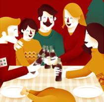 Coca Cola ·  Line Cards. Un proyecto de Ilustración de David Sierra Martínez - 17-12-2013