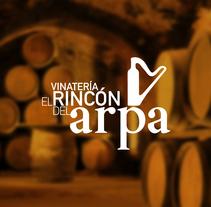 VINATERÍA EL RINCÓN DEL ARPA   •   Branding. Un proyecto de Diseño, Ilustración y Publicidad de ALEJANDRO  CALVO TOMAS - 07-01-2014