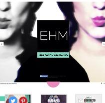 Mi portfolio web. Um projeto de Design de Esther HIJANO MUÑOZ - 05-11-2013