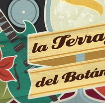 La Terraza del Botánico. A Design, Illustration, and Graphic Design project by kike + quino  - 08-01-2014
