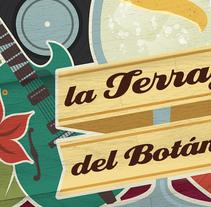 La Terraza del Botánico. Un proyecto de Ilustración, Diseño y Diseño gráfico de kike + quino  - Jueves, 09 de enero de 2014 00:00:00 +0100