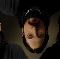 Autoretrato - Pintura digital realizada con los dedos en el Ipad. Um projeto de Design e Ilustração de Jaime Sanjuan Ocabo - 23-12-2013