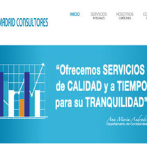Web para Madrid Consultores. A Design project by Cristina Torres - 24-01-2014