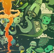 The Atomic Cream. Um projeto de Ilustração e Direção de arte de Óscar Lloréns         - 12.02.2014