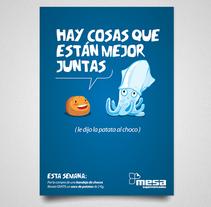 Promociones Mesa Supermercados. Un proyecto de Ilustración, Publicidad y Dirección de arte de Jose Mª Quirós Espigares - 14-02-2010