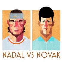 Nadal vs Nole. A Illustration project by Sergio Casado González         - 26.02.2014