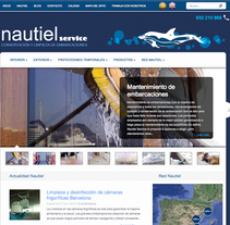 Web corporativa NAUTIEL Services. Un proyecto de Diseño Web y Desarrollo Web de Chelo Fernández Díaz - Lunes, 15 de julio de 2013 00:00:00 +0200