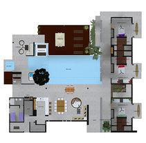 casa palau diseño interior . Um projeto de 3D, Design de móveis, Arquitetura de interiores e Design de interiores de diana tigreros         - 21.05.2013