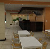 Snack Bar. Um projeto de Design de interiores de Yordany Ovalle Muñoz         - 10.03.2014
