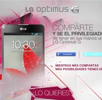 LG OPTIMUS G - API GRAPHIC - FACEBOOK. A Advertising, IT, Web Design, and Web Development project by Luis Miguel Pittol Mendoza         - 15.03.2014
