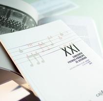 XXI Concierto Fundación Príncipe de Asturias. Un proyecto de Diseño, Diseño editorial y Diseño gráfico de Juan Jareño  - 27-03-2014
