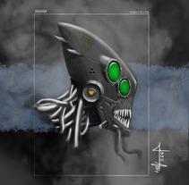 Alien Head. A Illustration, and Fine Art project by Jose Antonio Guerra Betancor         - 06.04.2014