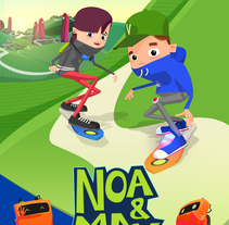 Portfolio serie infantil 'Noa & Max' . A 3D, Animation, and Character Design project by Lorena Díaz Arrondo - 29-07-2013