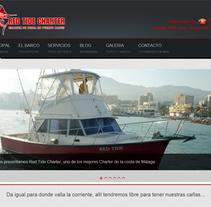 Desarrollo web para Red Tide Charter de pesca en Puerto Banús. A Graphic Design, Web Design, and Web Development project by David Pérez Fernández         - 30.04.2014