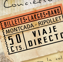 BilletesLargosBand//CD cover, pack - poster. A Graphic Design, and Packaging project by Patrícia  García - 30-04-2014