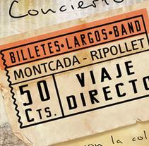 BilletesLargosBand//CD cover, pack - poster. Un proyecto de Diseño gráfico y Packaging de Patrícia  García - Jueves, 01 de mayo de 2014 00:00:00 +0200
