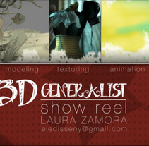 Demo Reel 3D Generalista. A 3D, and Animation project by Laura Zamora         - 07.05.2013