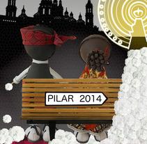 Cartel Concurso Fiestas del Pilar 2014. A Design, and Graphic Design project by Lucia Larrosa Escartín         - 07.05.2014