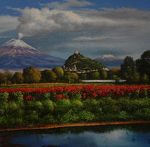 Amanecer en otoño. Un proyecto de Pintura de Miguel  Caltenco - 09-05-2014