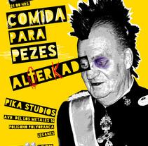 Cartel para concierto Punk Rock. A Graphic Design project by César Jiménez Castelló         - 29.05.2014