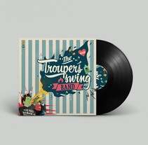 The trouper´s swing band. A Design, Illustration, Br, ing, Identit, and Packaging project by Alejandro Pertusa         - 15.05.2014