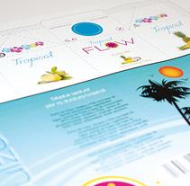 Logormarca y packaging Zumos Flow. Un proyecto de Br, ing e Identidad, Diseño gráfico y Packaging de Antía Méndez Conde-Pumpido         - 13.06.2014