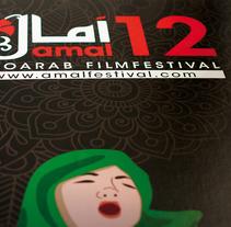 Cartel para el filmfestival Amal. Un proyecto de Diseño, Publicidad y Diseño gráfico de Antía Méndez Conde-Pumpido         - 09.06.2014