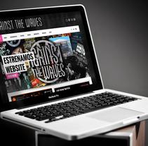 Against The Waves Webstise. Un proyecto de Diseño gráfico, Diseño Web y Desarrollo Web de Kurukatá Studios  - 10-06-2014