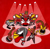 A-live band!. A Illustration, Character Design, and Graphic Design project by David Figuer - Jun 16 2014 12:00 AM