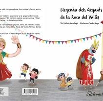 """Cuento infantil """"Gegants de la Roca del Vallès"""". Un proyecto de Ilustración y Diseño editorial de Sandra Maya  - 22-04-2014"""